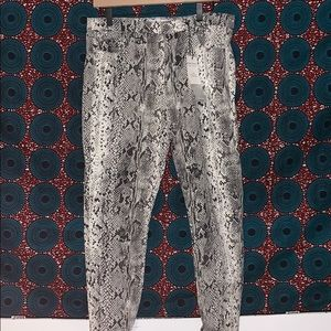 High Waisted Stretchy Snakeskin Jeans